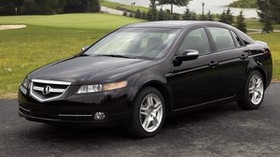 acura, tl, 2007, black, side view, style, acura, auto, nature, trees, lawn, water - wallpapers, picture