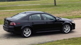 acura, tl, 2007, black, side view, style, auto, acura, trees, grass, asphalt - wallpapers, picture