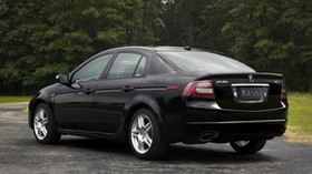 acura, tl, 2007, black, side view, style, auto, acura, nature, trees, grass, asphalt - wallpapers, picture