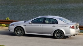 acura, tl, 2007, silver metallic, side view, style, acura, auto, grass, water, asphalt - wallpapers, picture