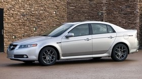 acura, tl, 2007, silver metallic, side view, style, auto, acura, building, asphalt - wallpapers, picture