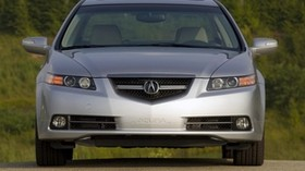acura, tl, 2007, silver metallic, front view, style, acura, auto, nature - wallpapers, picture