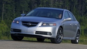 acura, tl, 2007, silver metallic, front view, style, auto, acura, trees, asphalt - wallpapers, picture