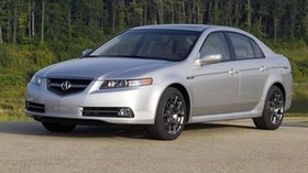 acura, tl, 2007, silver metallic, front view, style, auto, acura, forest, shrubs, grass - wallpapers, picture