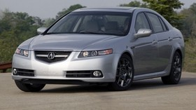acura, tl, 2007, silver metallic, front view, style, auto, acura, nature, trees, sky, asphalt - wallpapers, picture