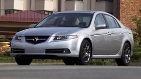 acura, tl, 2007, silver metallic, front view, style, auto, building, grass - wallpapers, picture