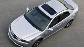 acura, tl, 2007, silver metallic, top view, style, auto, acura, asphalt - wallpapers, picture