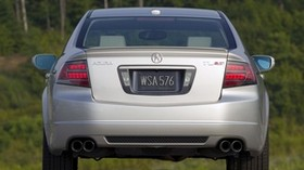 acura, tl, 2007, silver metallic, rear view, style, auto, acura, trees - wallpapers, picture
