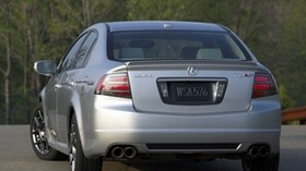 acura, tl, 2007, silver metallic, rear view, style, auto, acura, trees, asphalt - wallpapers, picture