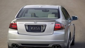 acura, tl, 2007, metallic gray, rear view, style, auto, acura, asphalt - wallpapers, picture