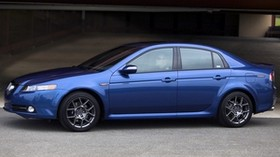 acura, tl, 2007, blue, side view, style, acura, auto, building, asphalt - wallpapers, picture