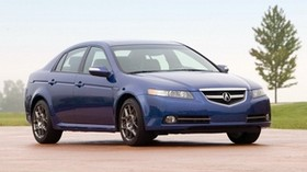 acura, tl, 2007, blue, side view, style, auto, acura, sky, nature, grass, tree - wallpapers, picture