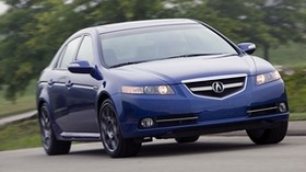 acura, tl, 2007, blue, front view, style, acura, auto, speed, trees, grass, asphalt - wallpapers, picture