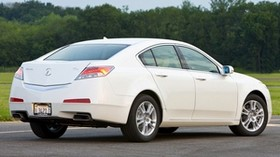 acura, tl, 2008, white, side view, style, auto, acura, trees, grass - wallpapers, picture