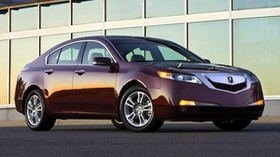acura, tl, 2008, burgundy, side view, style, auto, acura, building, asphalt - wallpapers, picture