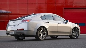 acura, tl, 2008, silver metallic, side view, style, auto, acura, wall, asphalt - wallpapers, picture