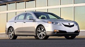 acura, tl, 2008, silver metallic, side view, style, auto, acura, building - wallpapers, picture