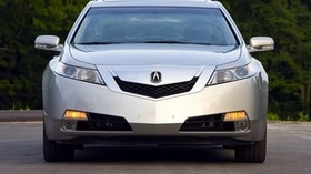 acura, tl, 2008, silver metallic, front view, style, auto, acura, trees - wallpapers, picture
