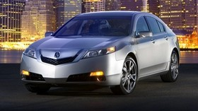 acura, tl, 2008, silver metallic, front view, style, auto, acura, city, lights - wallpapers, picture