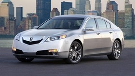 acura, tl, 2008, silver metallic, front view, style, auto, acura, city, water - wallpapers, picture