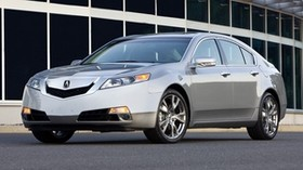 acura, tl, 2008, silver metallic, front view, style, auto, acura, building, asphalt - wallpapers, picture