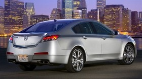 acura, tl, 2008, silver metallic, rear view, style, auto, acura, city, asphalt, lights - wallpapers, picture