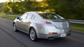 acura, tl, 2008, metallic gray, side view, style, auto, acura, speed, trees, track - wallpapers, picture