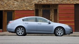 acura, tl, 2011, metallic blue, side view, style, auto, acura, building, asphalt - wallpapers, picture