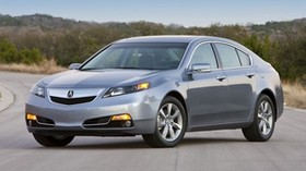 acura, tl, 2011, metallic blue, side view, style, auto, asphalt, nature, trees - wallpapers, picture