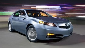 acura, tl, 2011, metallic blue, front view, style, auto, acura, asphalt, lights, speed - wallpapers, picture
