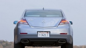 acura, tl, 2011, metallic blue, rear view, style, auto, sky - wallpapers, picture