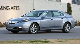 acura, tl, 2011, blue, side view, style, acura, auto, asphalt, building, grass - wallpapers, picture