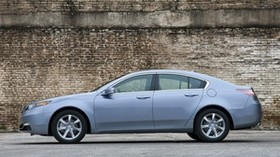 acura, tl, 2011, blue, side view, style, acura, auto, wall, asphalt - wallpapers, picture