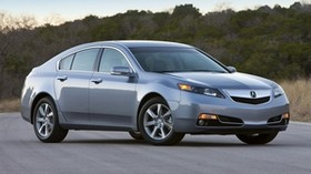 acura, tl, 2011, blue, side view, style, auto, acura, nature, trees, sky, asphalt - wallpapers, picture