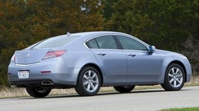 acura, tl, 2011, blue, side view, style, auto, acura, grass, trees, asphalt - wallpapers, picture