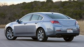 acura, tl, 2011, blue, rear view, style, auto, acura, nature, trees, sky, asphalt - wallpapers, picture