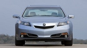 acura, tl, 2011, silver metallic, front view, style, acura, sky, nature, asphalt - wallpapers, picture