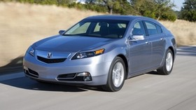 acura, tl, 2011, silver metallic, front view, style, auto, acura, speed, nature, asphalt, trees - wallpapers, picture