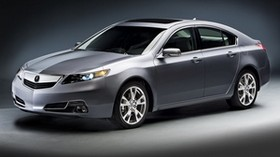 acura, tl, 2011, metallic gray, front view, style, auto - wallpapers, picture