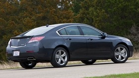 acura, tl, 2011, blue, side view, style, auto, acura, trees, asphalt, grass - wallpapers, picture