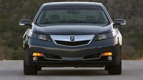 acura, tl, 2011, blue, front view, style, auto, acura, trees, asphalt - wallpapers, picture