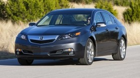 acura, tl, 2011, blue, front view, style, auto, nature, trees, asphalt - wallpapers, picture