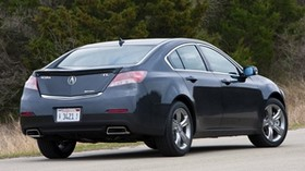 acura, tl, 2011, blue, rear view, style, acura, auto, nature, trees - wallpapers, picture