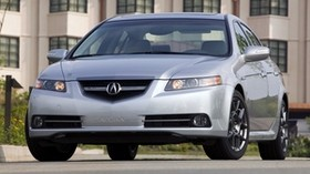 acura, tl, silver metallic, front view, style, auto, acura, house, grass, asphalt - wallpapers, picture