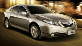 acura, tl, metallic gray, side view, style, auto, acura, city, speed, street, asphalt - wallpapers, picture