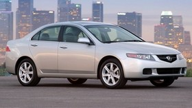 acura, tsx, 2003, white, side view, style, auto, acura, city, lights, asphalt - wallpapers, picture