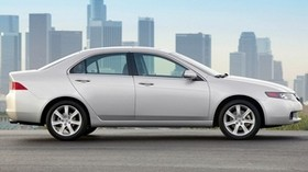 acura, tsx, 2003, white, side view, style, auto, acura, building, city, asphalt - wallpapers, picture