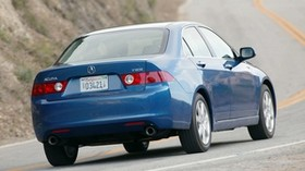 acura, tsx, 2003, blue, rear view, style, auto, acura, speed, nature, asphalt - wallpapers, picture