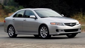 acura, tsx, 2006, silver metallic, side view, style, auto, acura, speed, nature, shrubs, asphalt - wallpapers, picture