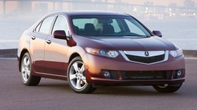 acura, tsx, 2008, red, front view, style, auto, acura, fog, houses, lights - wallpapers, picture